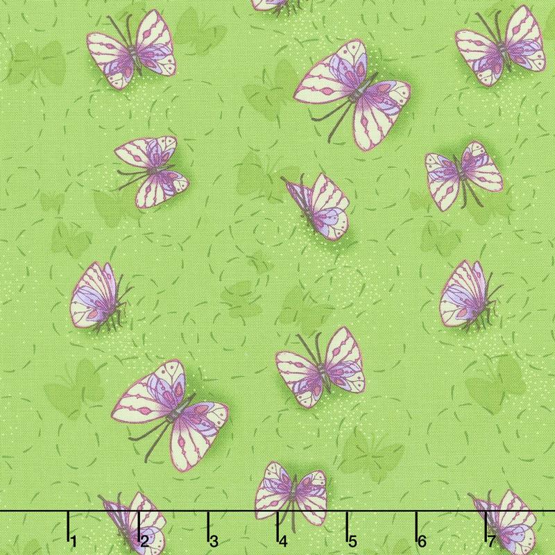 Sweet Pea & Lily - Butterflies in Flight Leaf Yardage