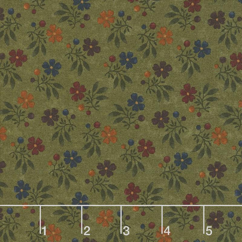 Nature's Glory - Fall Bouquet Green Yardage