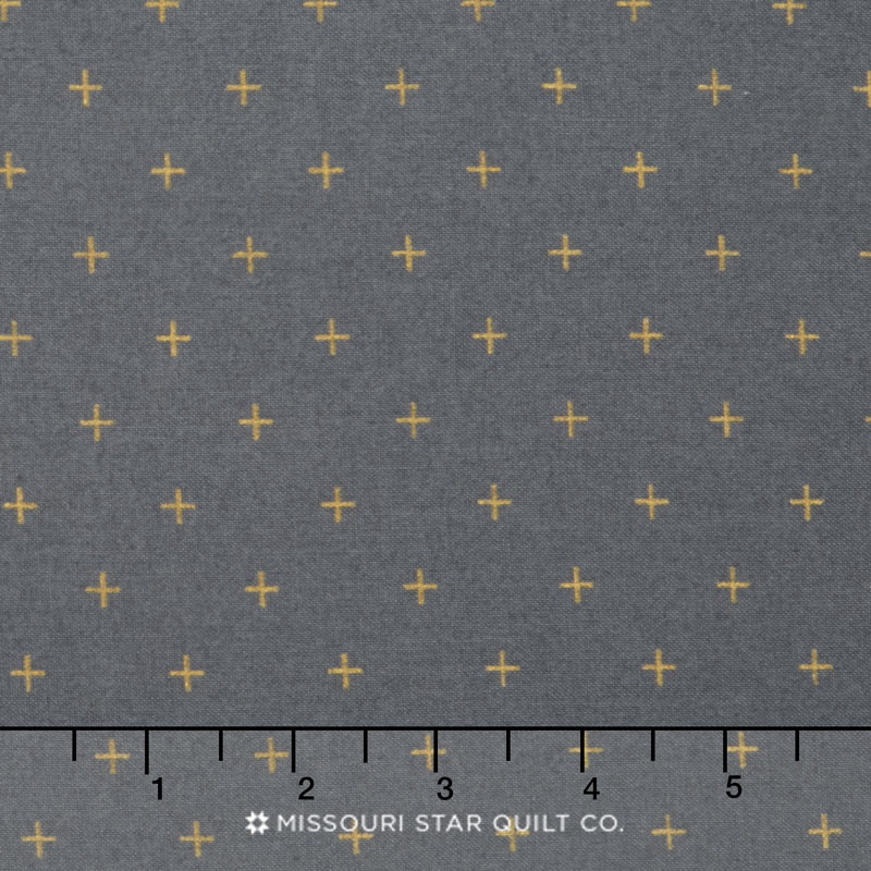 Modern Background Luster - Positive Graphite Metallic Yardage