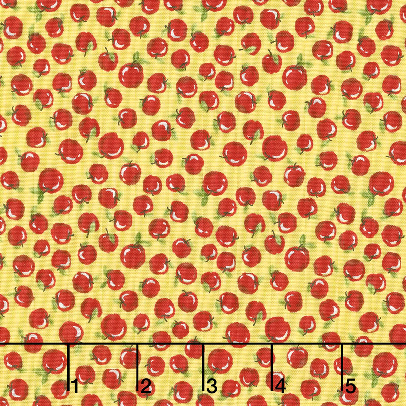 Little Red Riding Hood - Apples Yellow Yardage