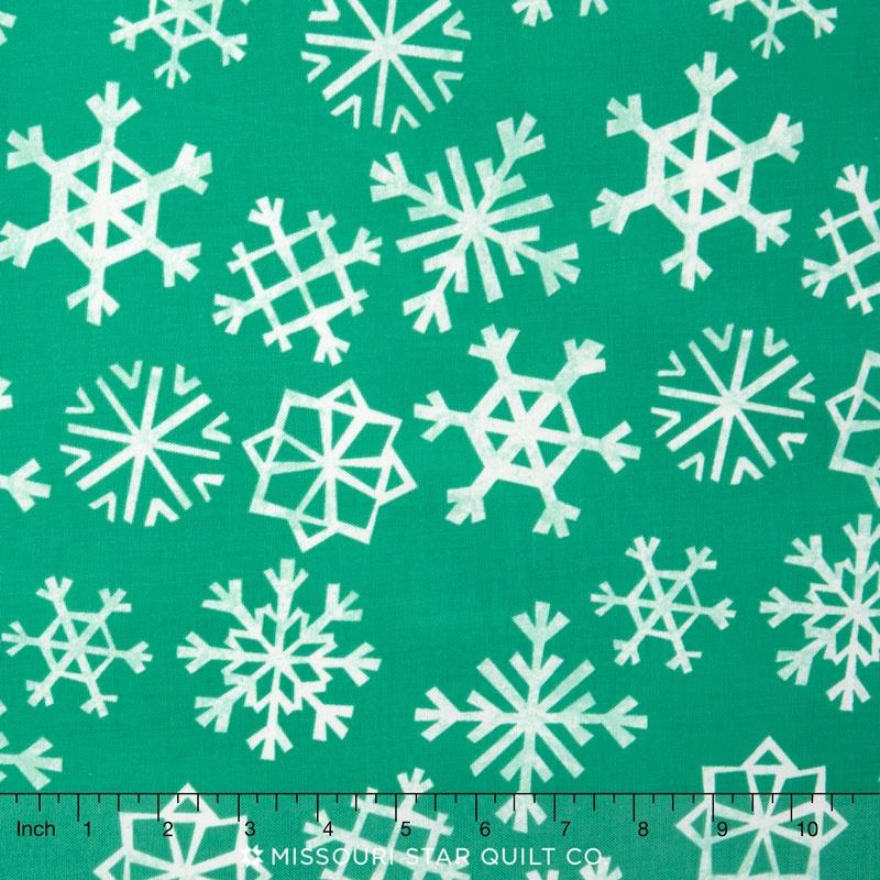 Garland - Snowflakes Teal Yardage