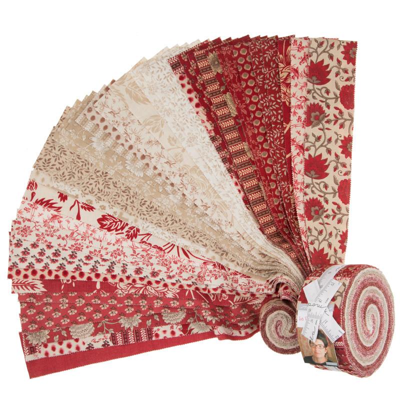 La Vie En Rouge Jelly Roll French General Moda Fabrics