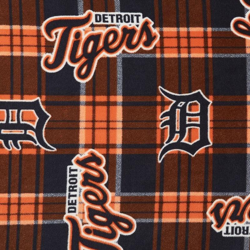 MLB Fleece - Detroit Tigers Blue/Orange Yardage