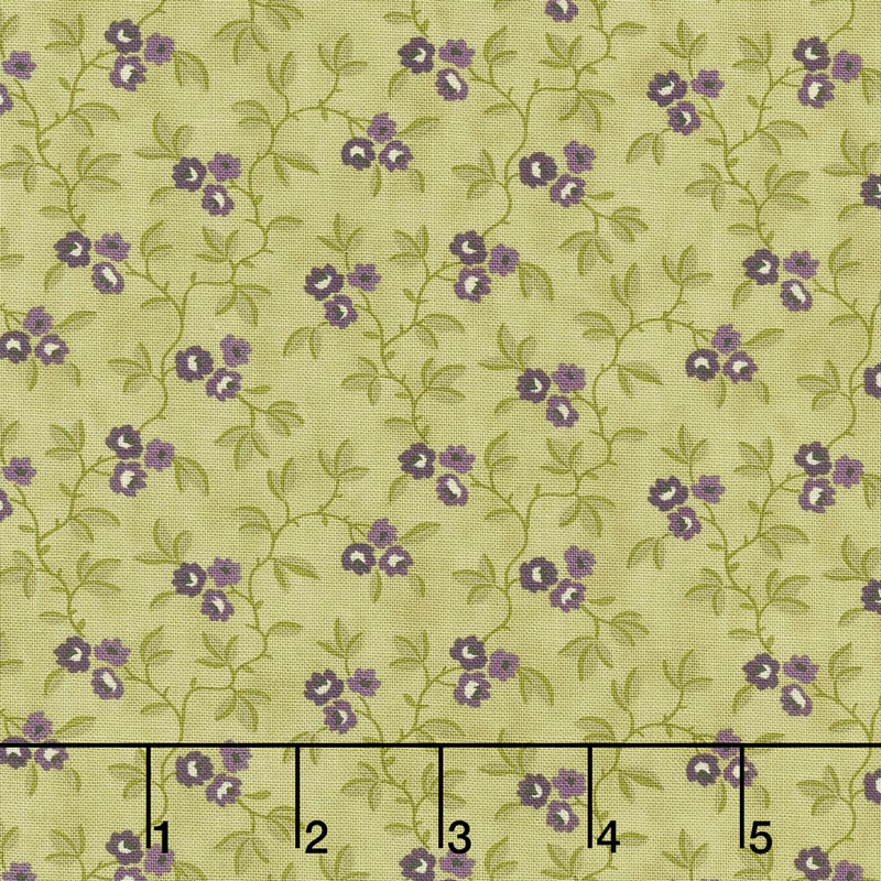 Clover Meadow - Vines & Flowers Green Yardage