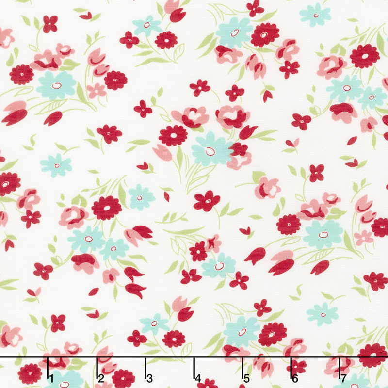 Little Snippets - Fresh Cut Cream Yardage