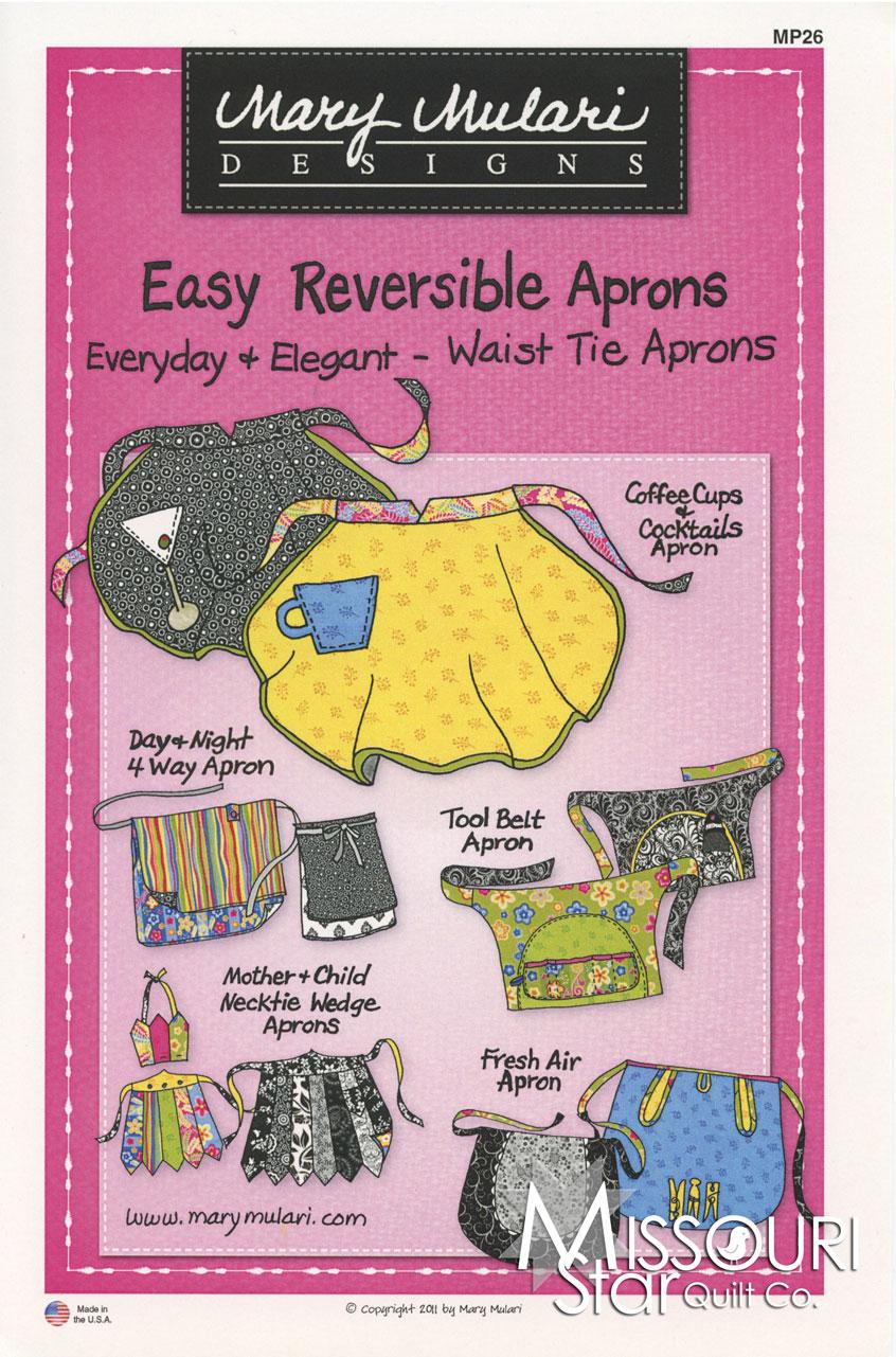 Easy Reversible Aprons - Waist Tie Aprons