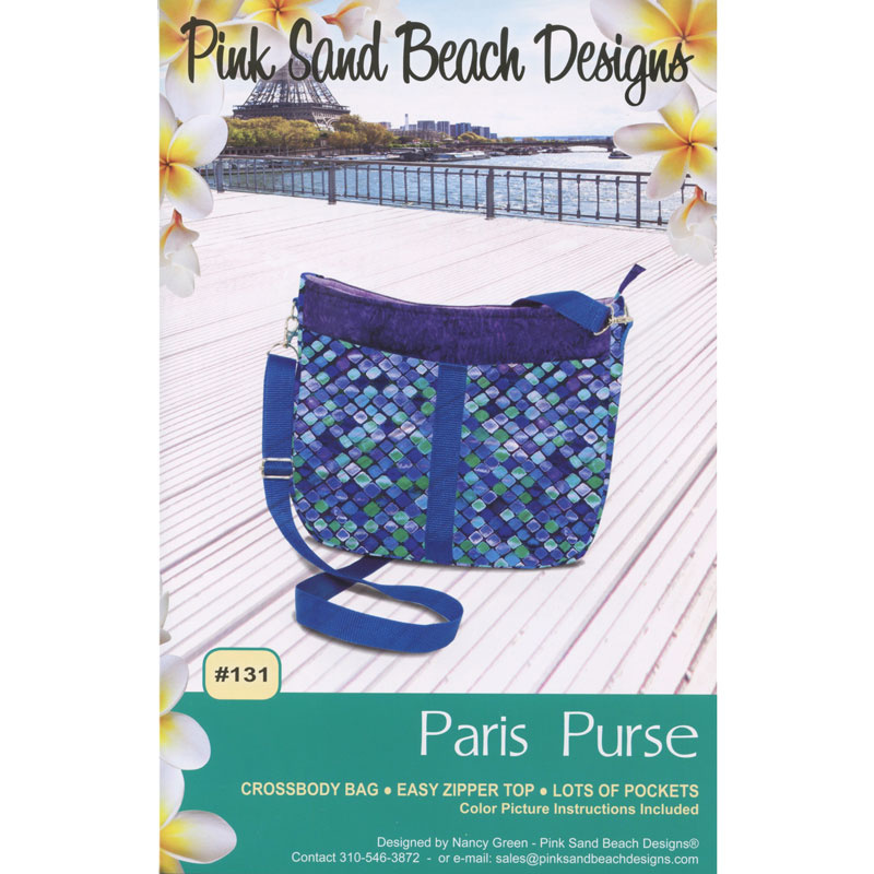 Paris Purse Pattern Nancy Green Pink Sand Beach Designs