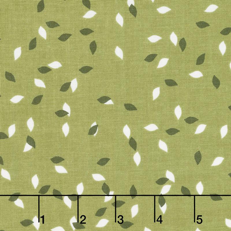Summer Blush - Leaf Green Yardage