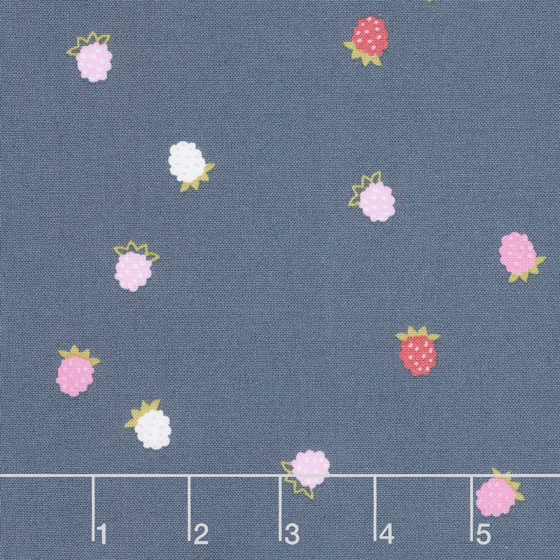 Wild Bouquet - Raspberries Navy Yardage