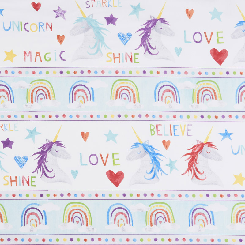 Sparkle Magic Shine - Repeating Stripe Multi Yardage