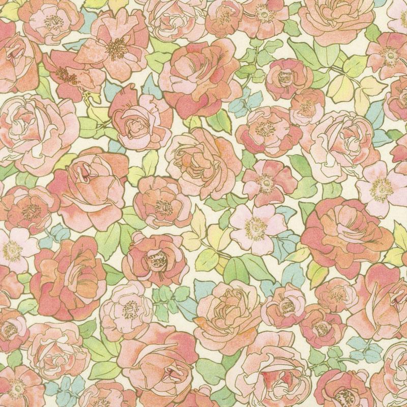Alphonse Mucha - Flowers Nature Digitally Printed Yardage
