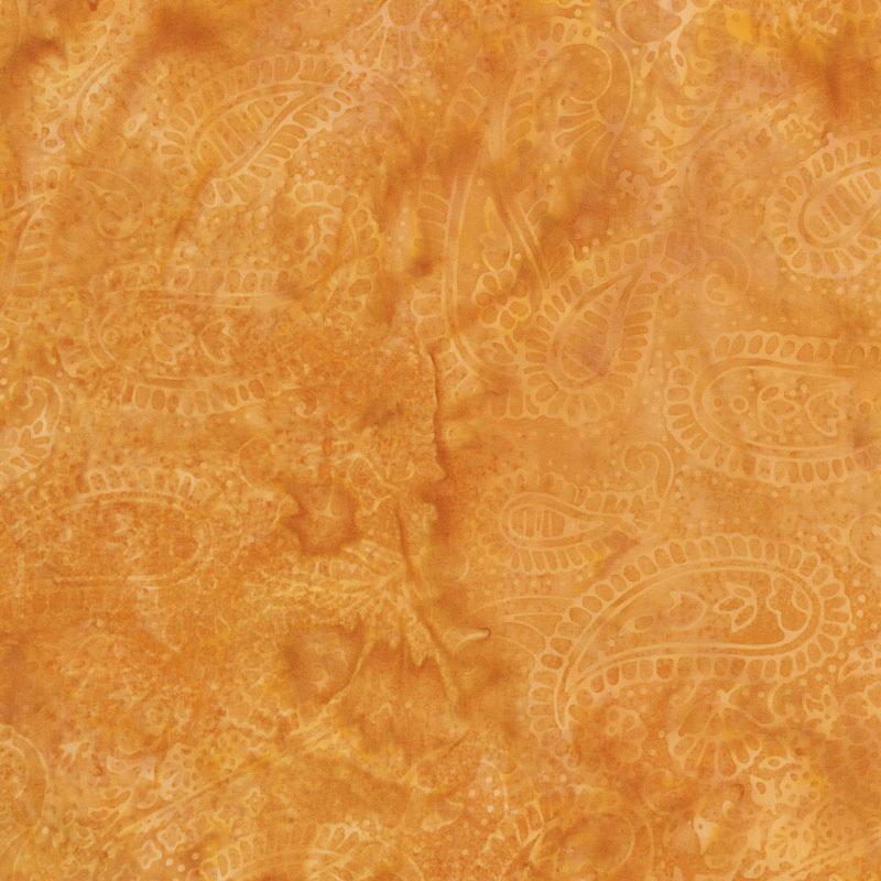 Flea Market Batiks - Paisley Outlining Copper Yardage