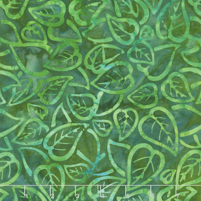 Artisan Batiks - Color Source 8 - Scattered Leaves Forest Yardage