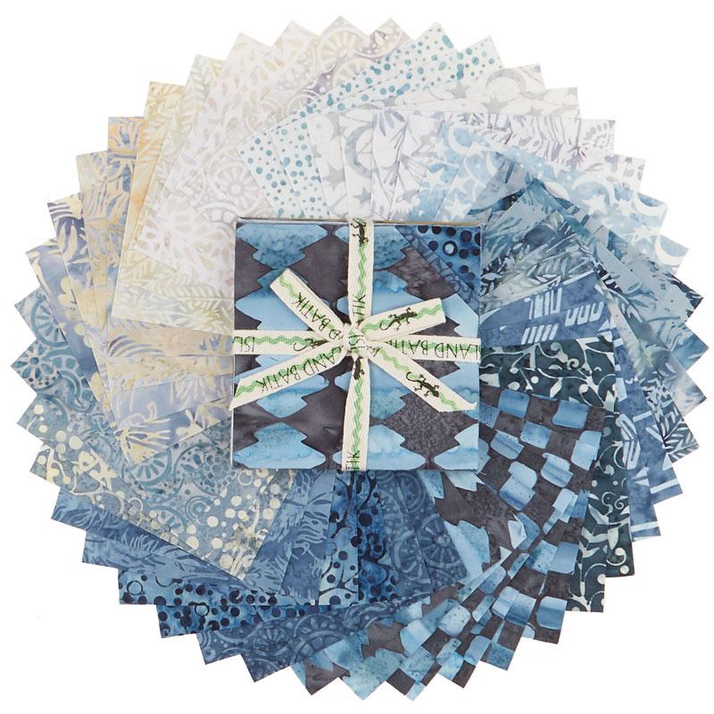 Faded Blue Jeans Batiks Stamps