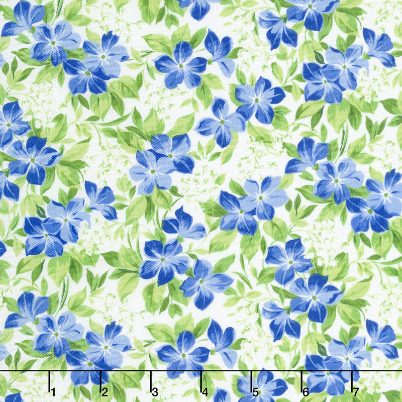 Summer Breeze V - Vinca Ivory Yardage