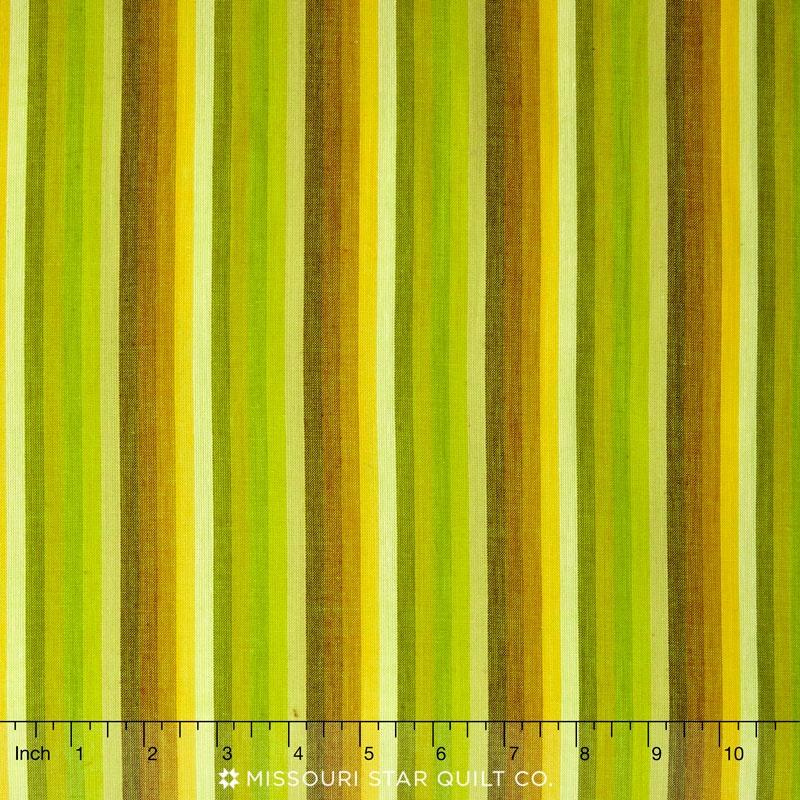 Kaffe Wovens - Multi Stripe Lime Yardage