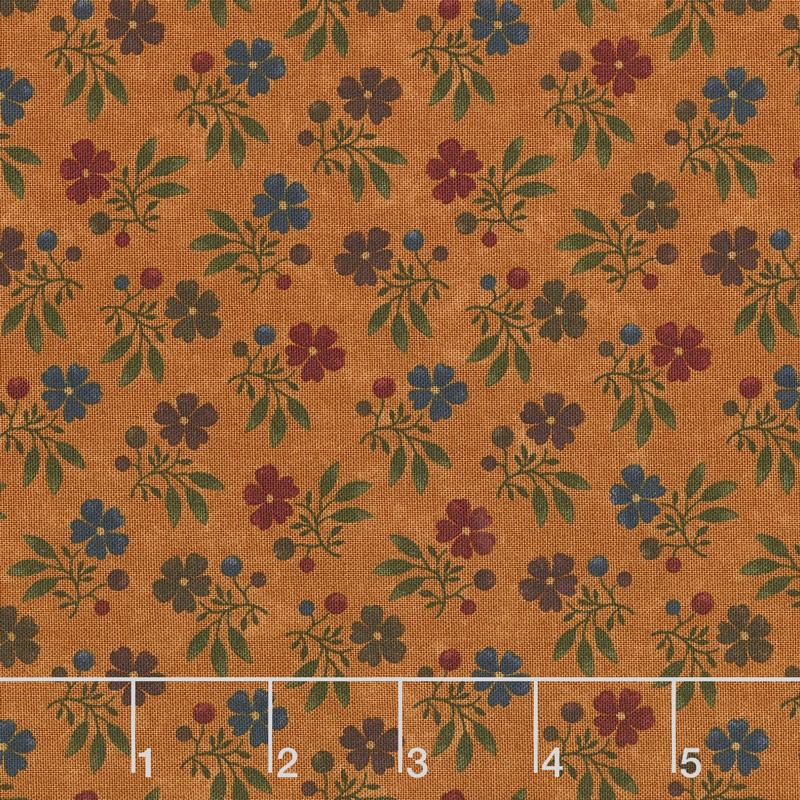 Nature's Glory - Fall Bouquet Orange Yardage