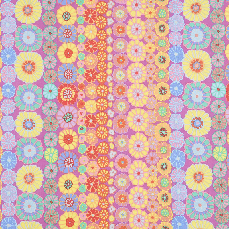 Kaffe Fassett Collective Fall 2018 - Day Row Flowers Pink Yardage