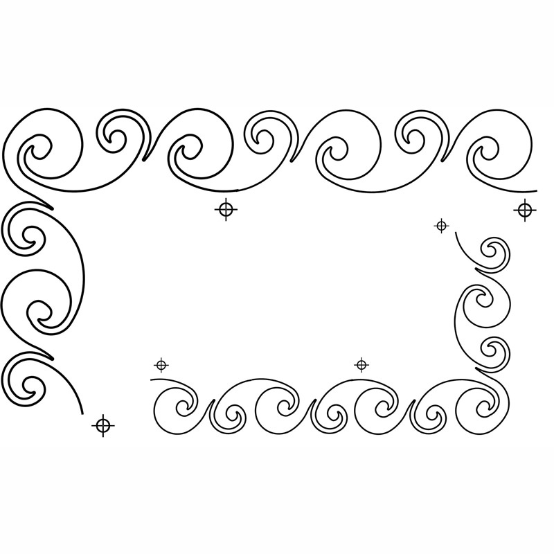Hancy Creations 30684 Spring String Border Full Line Stencils 2X