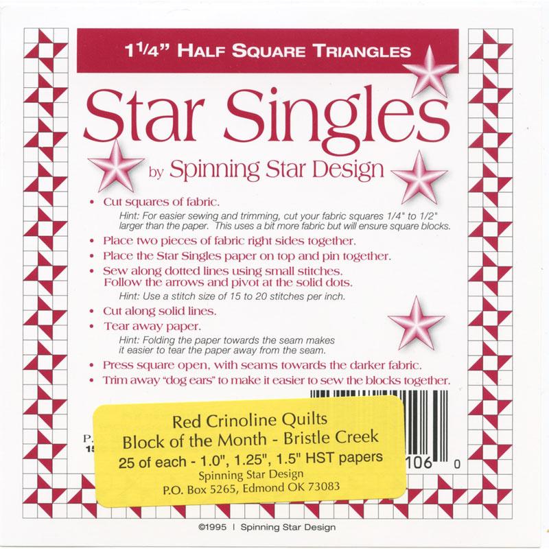 Bristle Creek Farmhouse Block of the Month Star Singles Pack