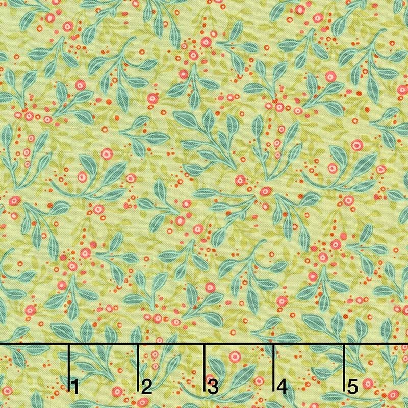 Abby Rose - Tin Leaves Greenery Yardage