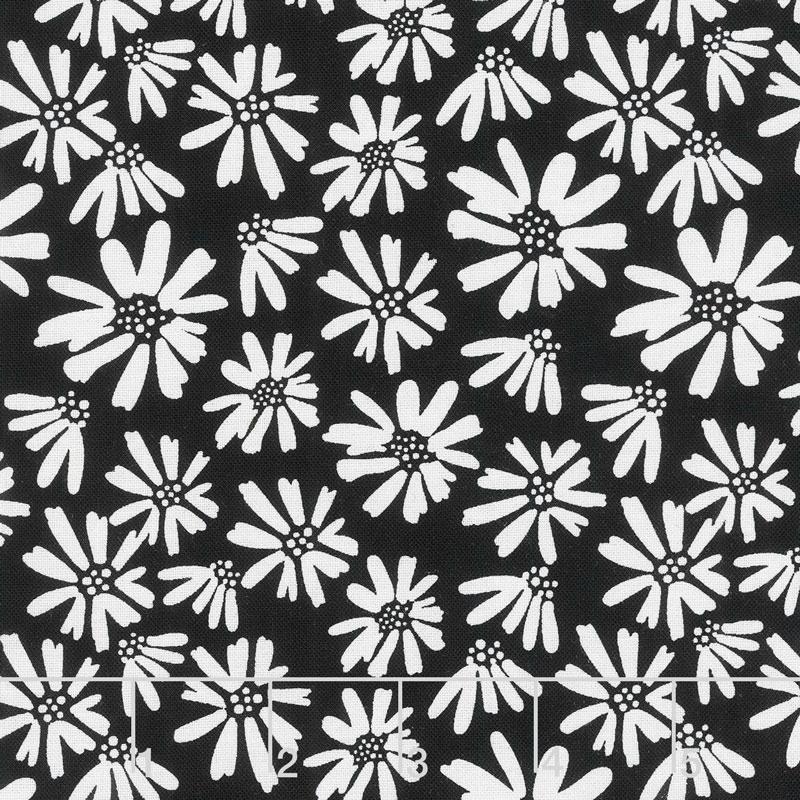 Juniper - Daisy Black Yardage