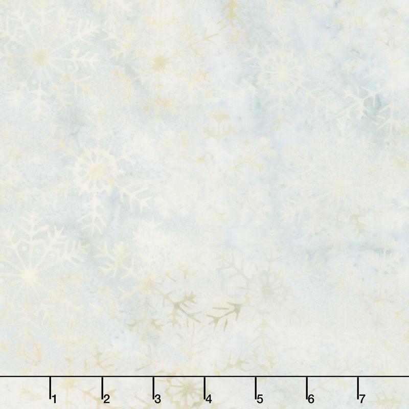 Icicle Batiks - Snowflake Ice Yardage