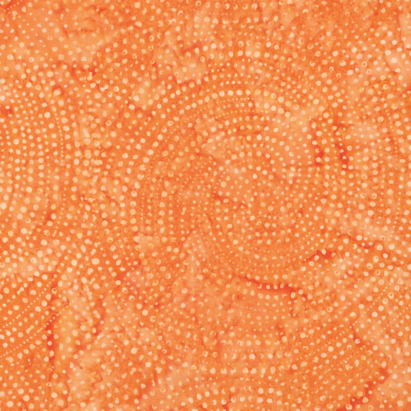 Tonga Batiks - Colorwheel Rainbow Dotty Spiral Melon Yardage