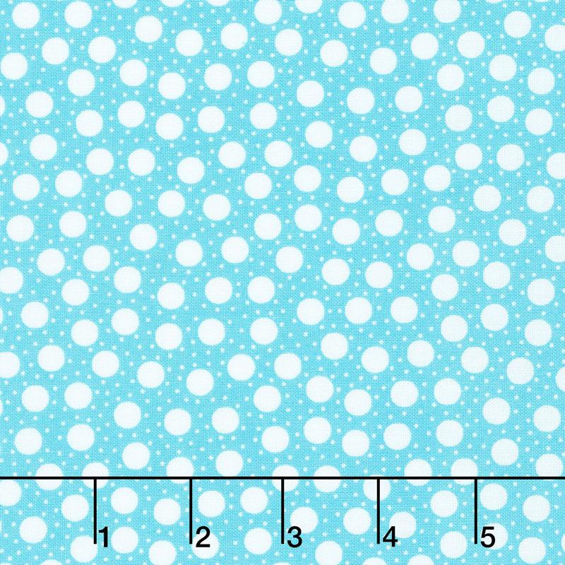 Confetti - Dots On Dots Turquoise Yardage