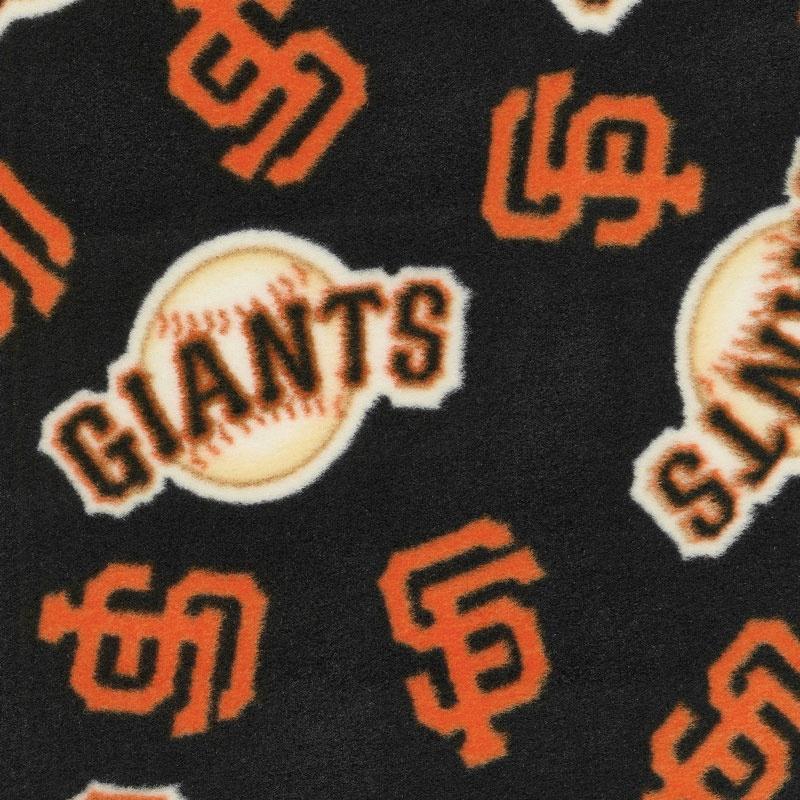 MLB Fleece - San Francisco Giants Black/Orange Yardage