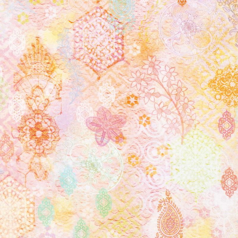 Arabesque - Lacery Jasmine Digitally Printed Yardage
