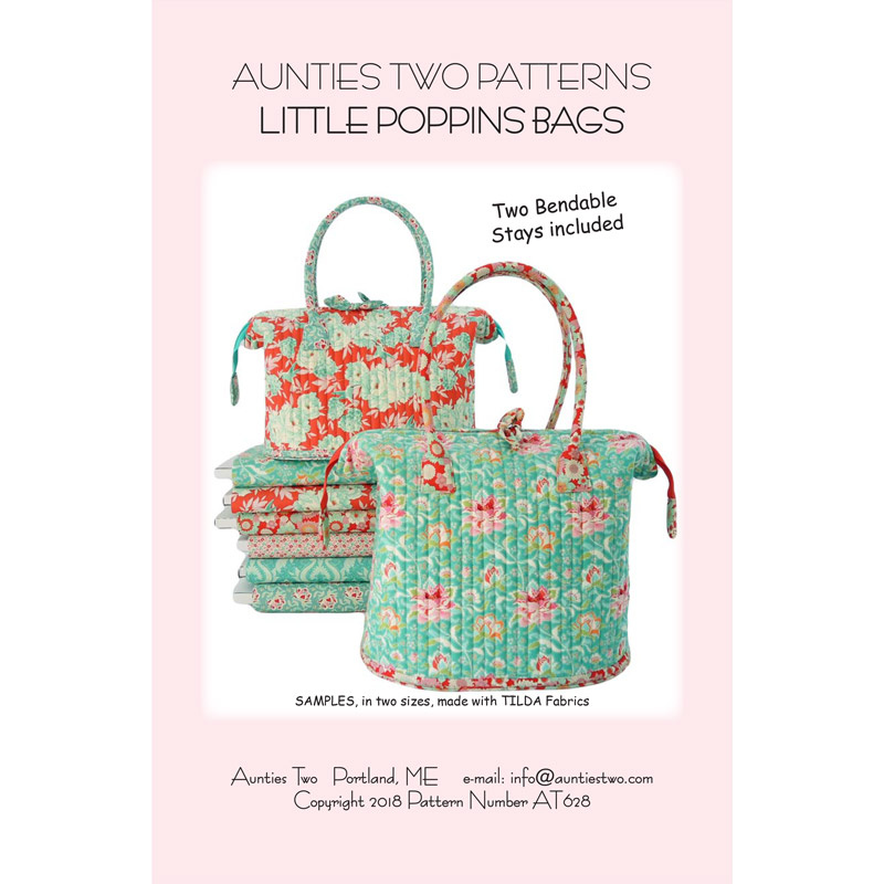 Little Poppins Bag Pattern Aunties Two Aunties Two