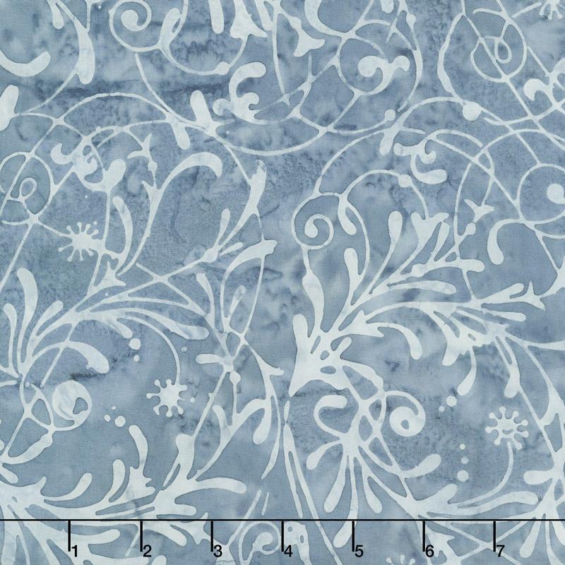 Baker's Dozen Batiks - Scroll Egyptian Blue Yardage