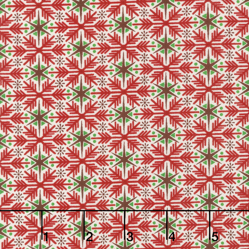 Kringle and Claus - Frosty Flakes Berry Yardage