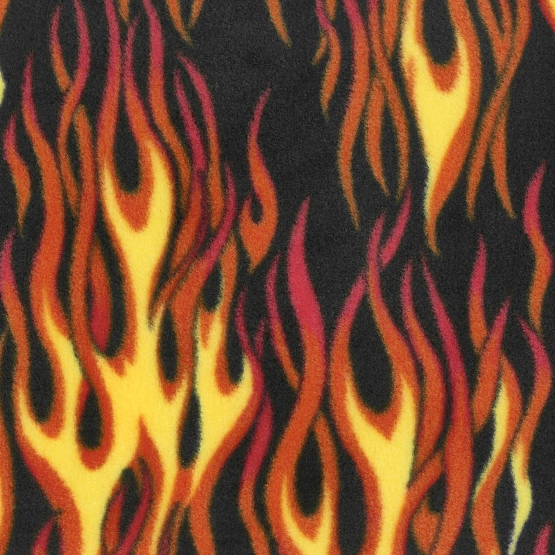 Winterfleece Prints Conversational - Hot Rod Multi Fleece Yardage