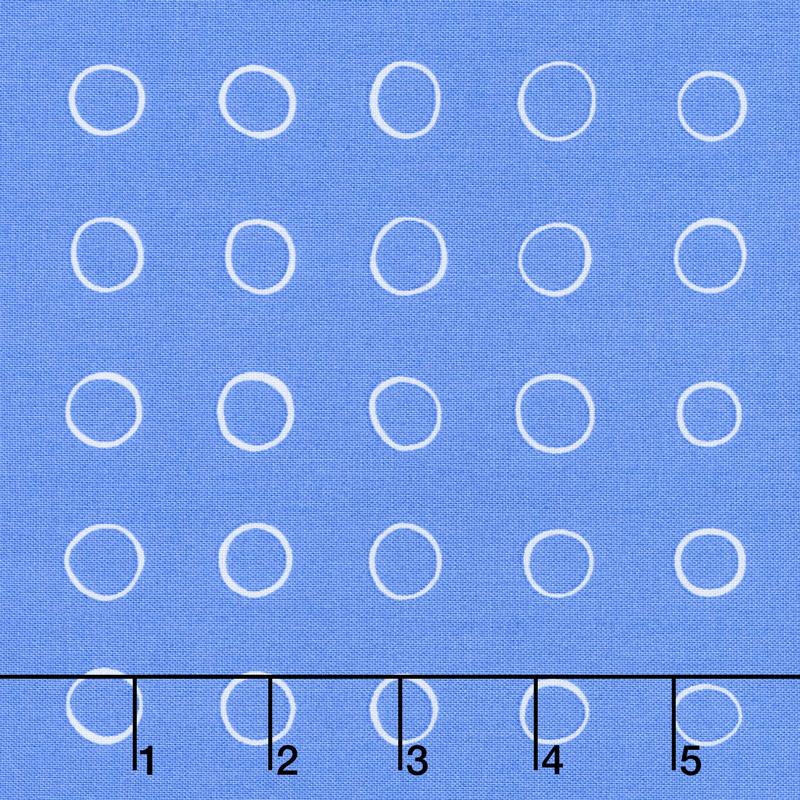 Cottage Joy - Ring Dot Blue Yardage