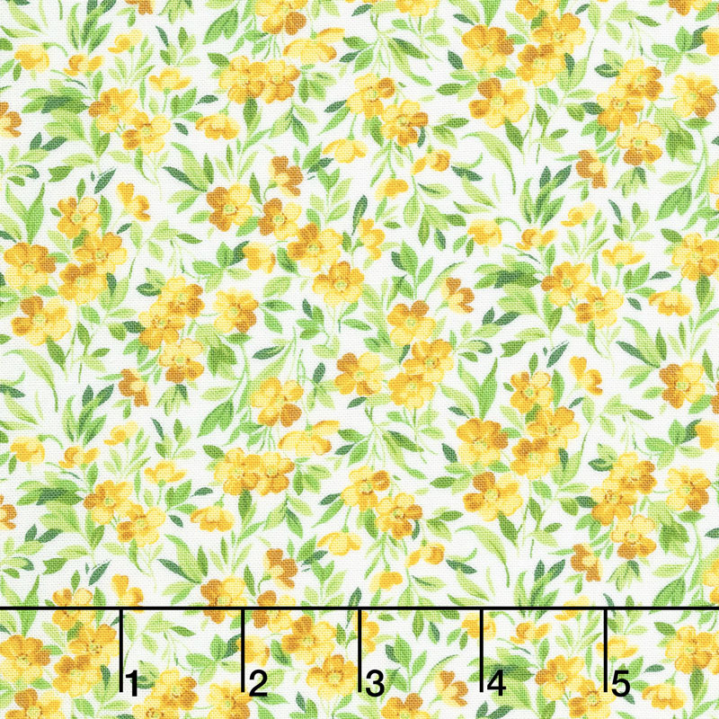 Summer Breeze V - Buttercup Ivory Yardage