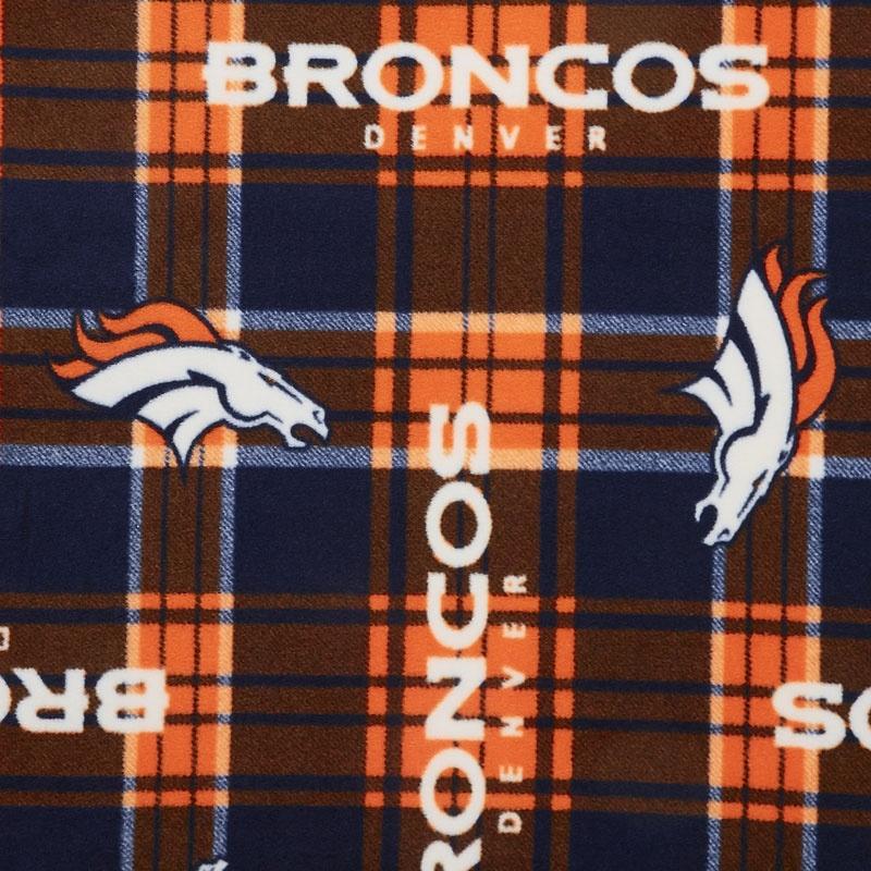 NFL Fleece - Denver Broncos Orange/Blue Yardage