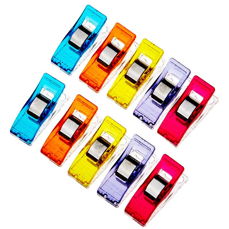Wonder Clips Assorted Colors 10 Count Clover Needlecraft Clover