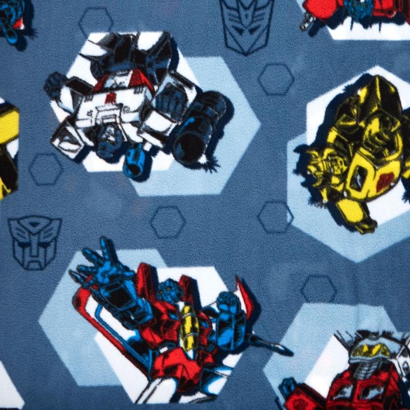 Fleece Licensed - Transformers Polygons Blue Yardage
