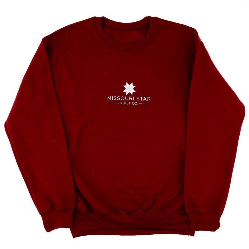 Missouri Star Crewneck Unisex Sweatshirt Garnet - XL