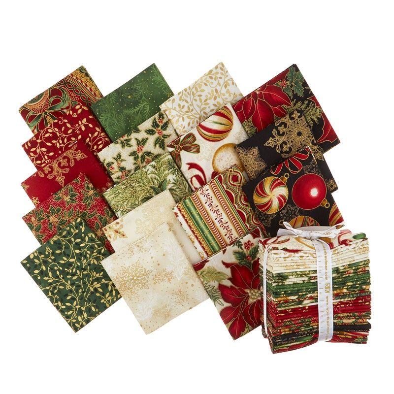 Holiday Flourish 10 Holiday Metallic Fat Quarter Bundle