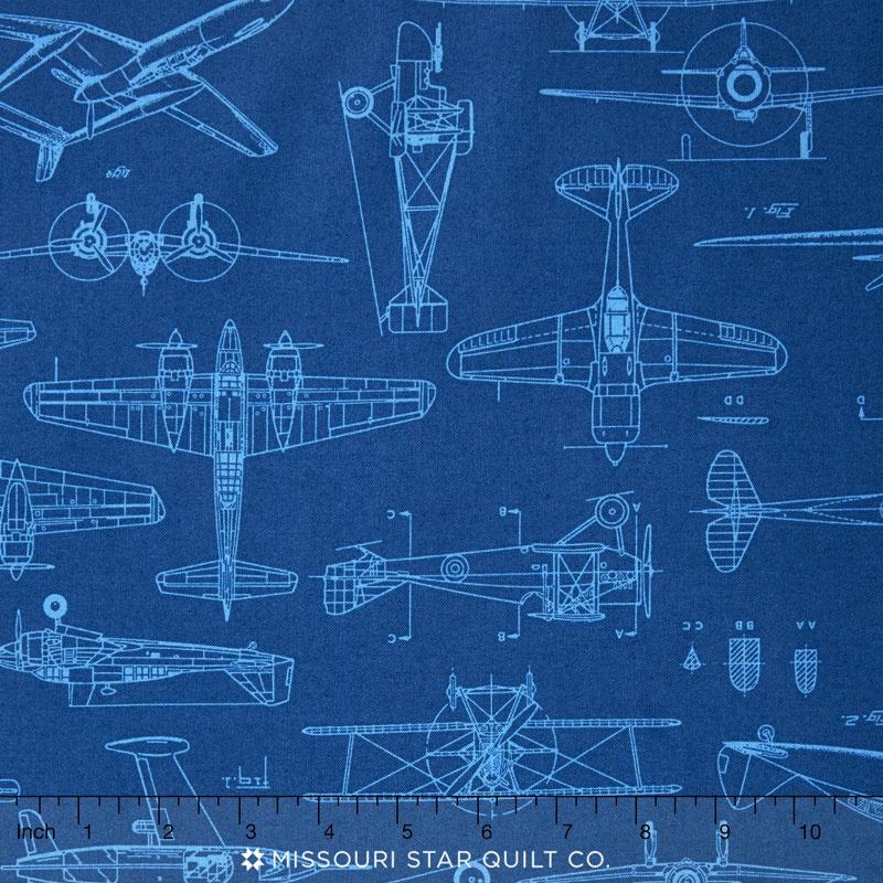Aviator plane blueprints royal yardage dan morris quilting aviator plane blueprints royal yardage malvernweather Image collections