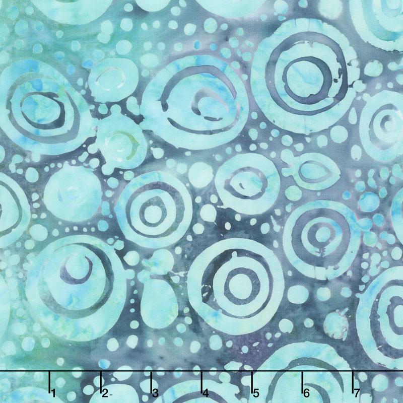 Soul Song Batiks - Circles Cool Waters Yardage