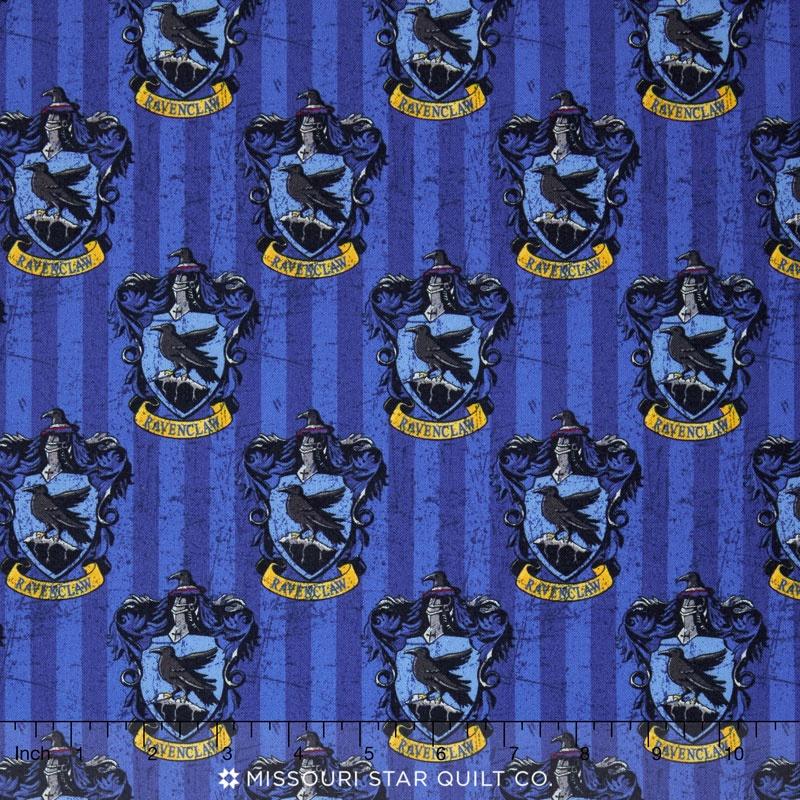 Harry Potter Ravenclaw Blue Digitally Printed Yardage