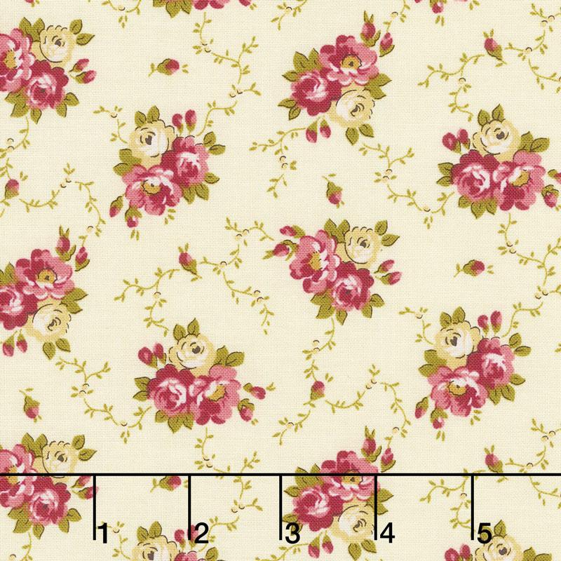 Bricolage - Floral Bouquet Ivory Yardage