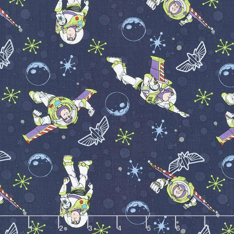 Toy Story - Buzz Lightyear Dark Blue Yardage