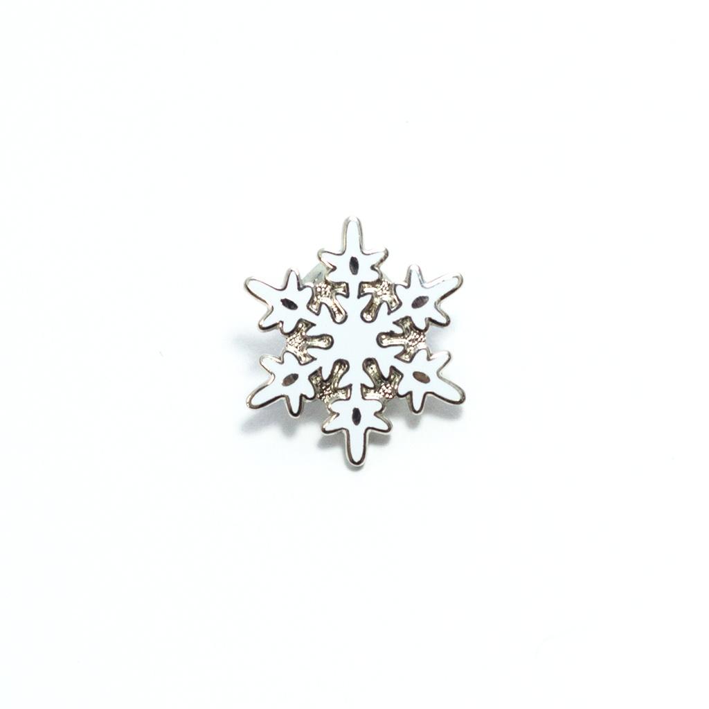 Snowflake Pin by Pin Peddlers