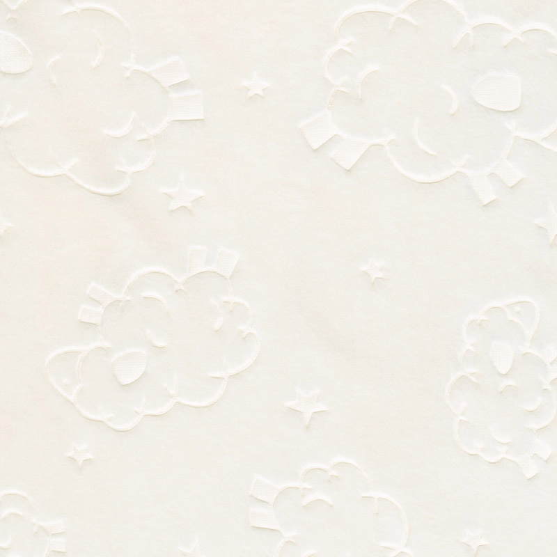 Cuddle Double Sided Embossed Lamb Spa - Ivory 60