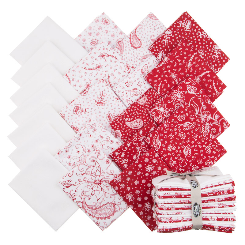 Scarlet Romance Fat Quarter Bundle